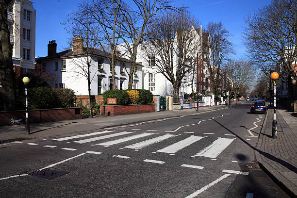 Beatles Zebra Crossing At Abbey Road Studios stock photo