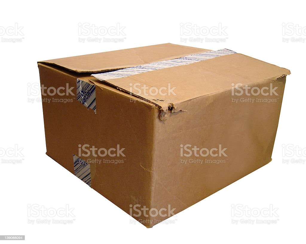 Beat-up Cardboard Box royalty-free stock photo