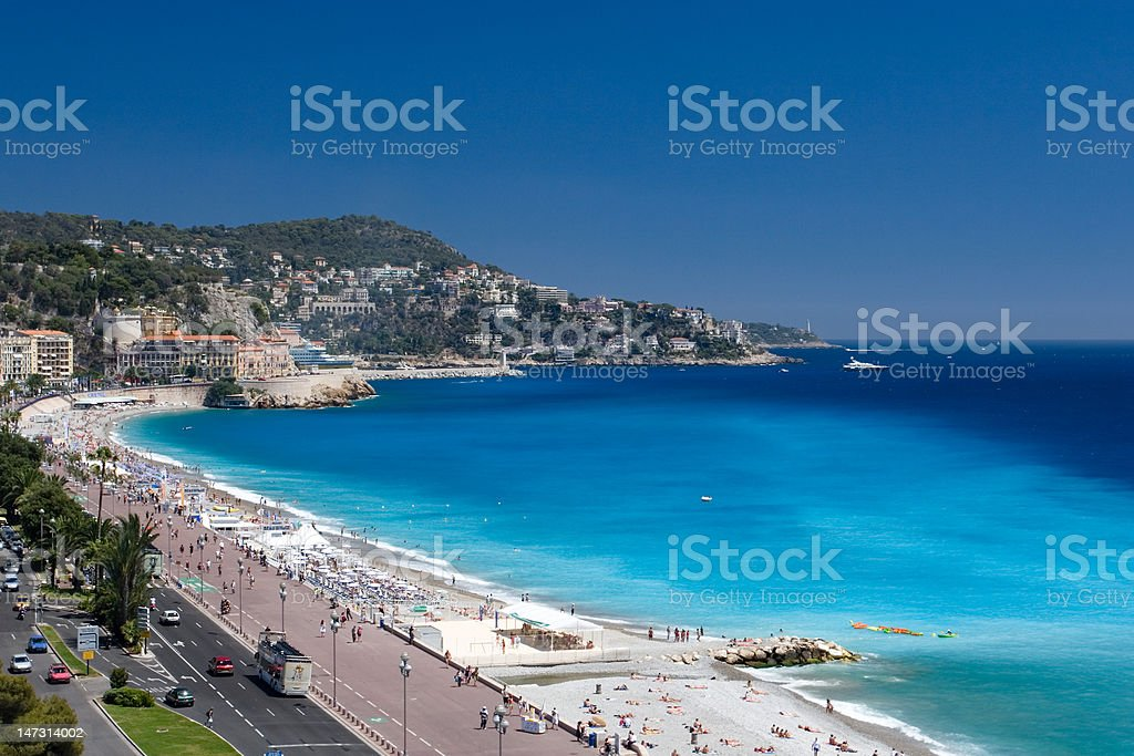 'Beau Rivage' Beach in Nice, France royalty-free stock photo