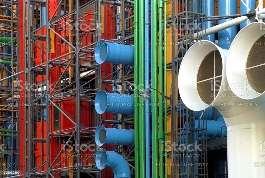 Beaubourg or Centre Georges Pompidou in Paris, France stock photo