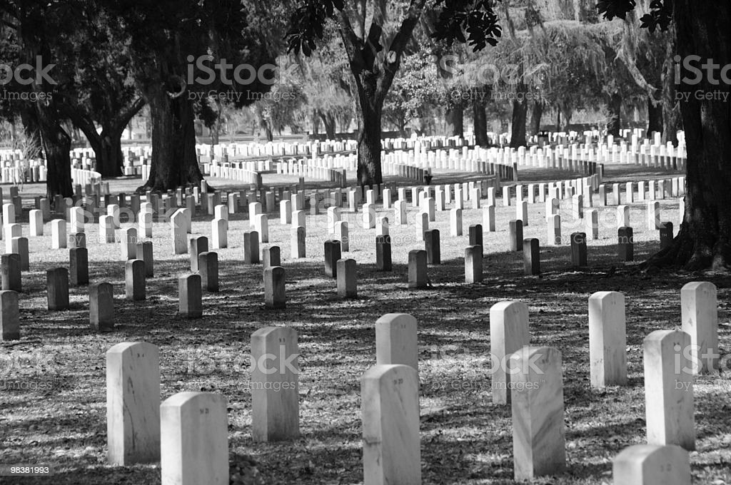Beaufort National Cemetery royalty-free stock photo