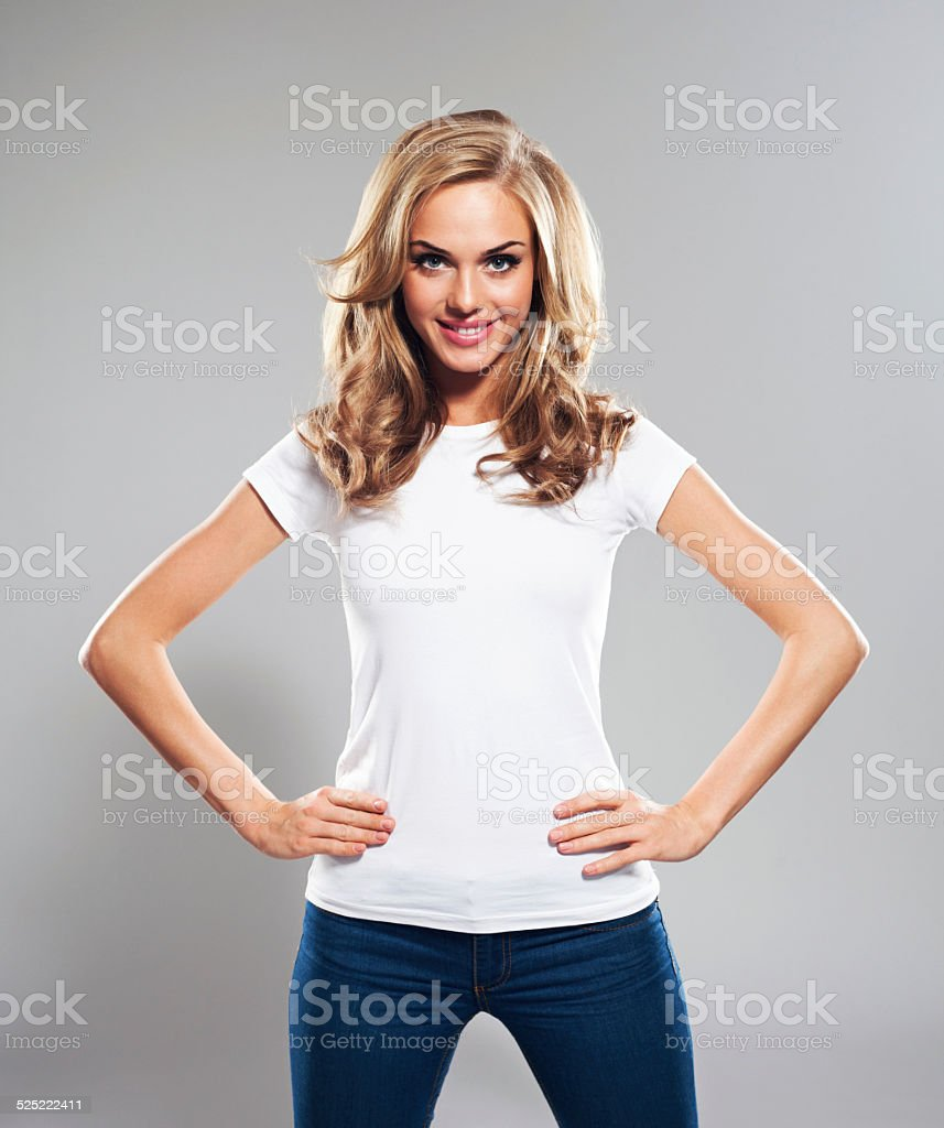Beauiful Blonde, Studio Portrait stock photo
