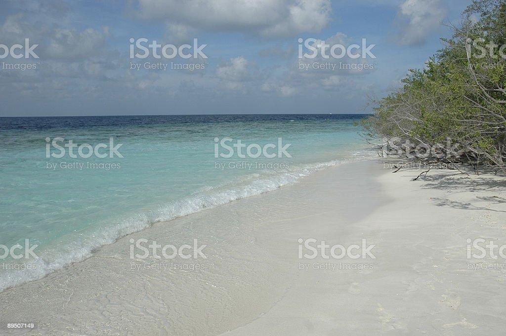 beauitful maldives beach royalty-free stock photo