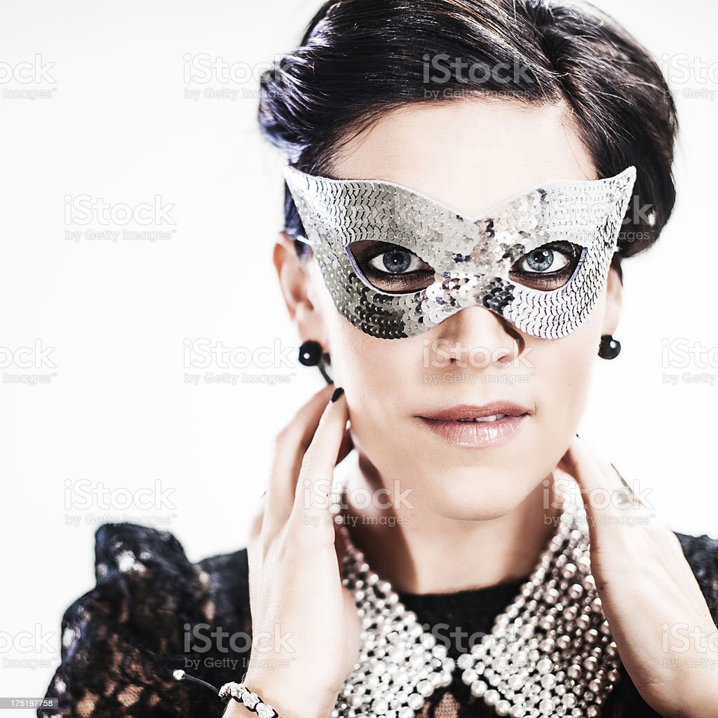 Beauitful woman in mask royalty-free stock photo