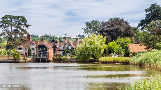 View on the beatiful historic Beaulieu village and river in the New forest area of Hampshire in  England, United Kingdom