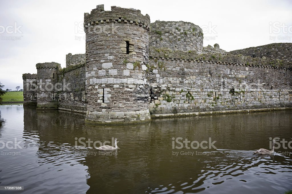 Beaumaris Castle Moat stock photo