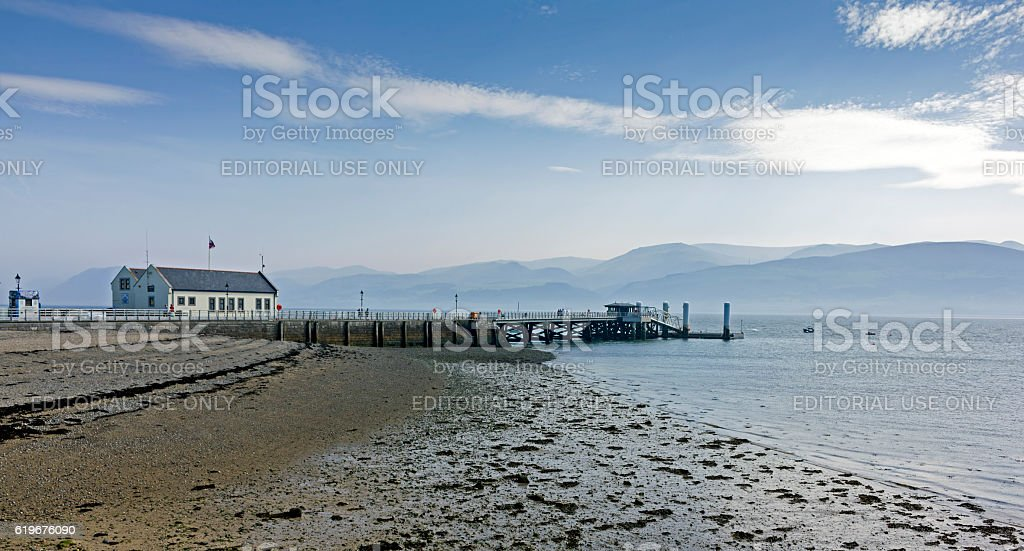 Beaumaris  Pier, North Wales. stock photo