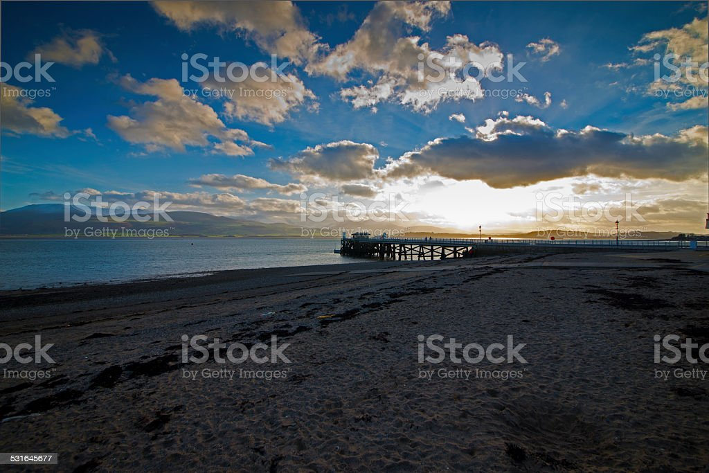 Beaumaris Pier stock photo