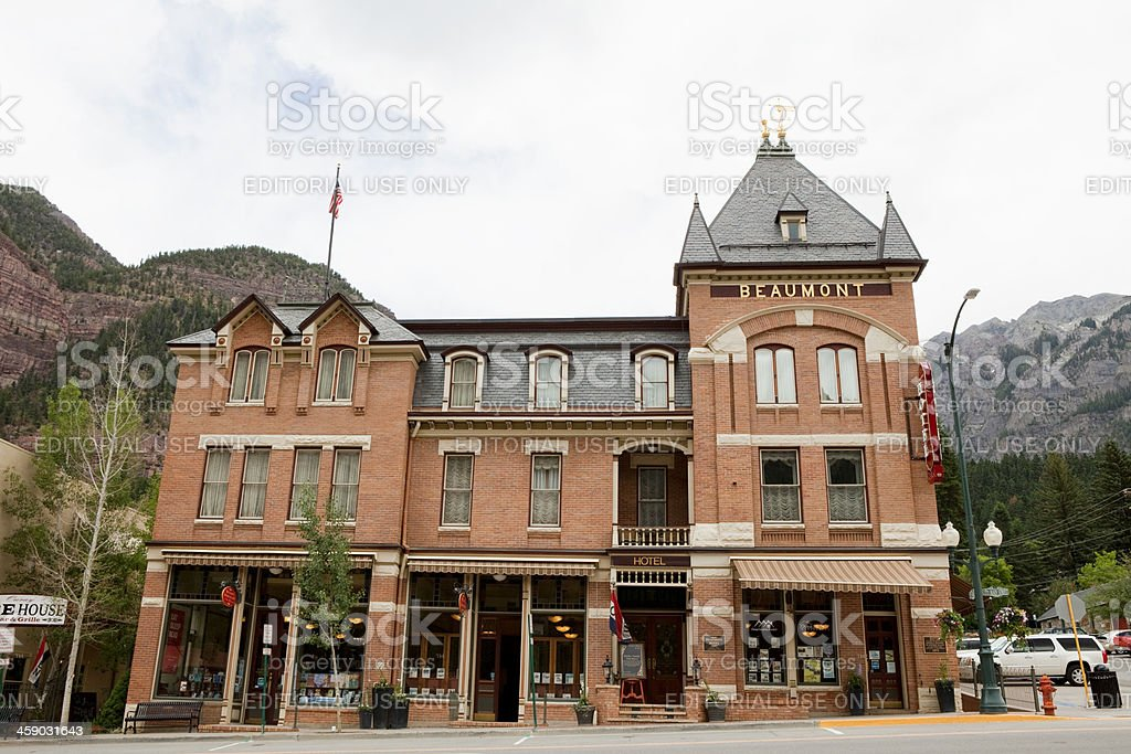 Beaumont Hotel - Ouray, Colorado royalty-free stock photo