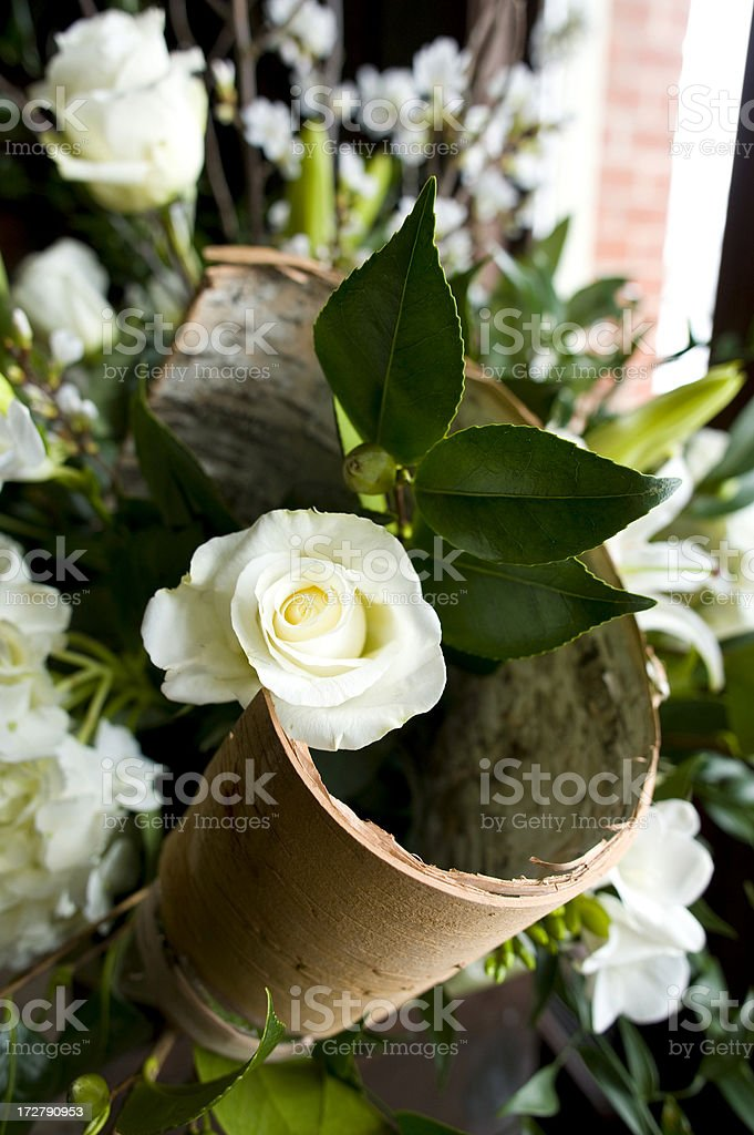 Beautful White Flowers at a Wedding Ceremony royalty-free stock photo