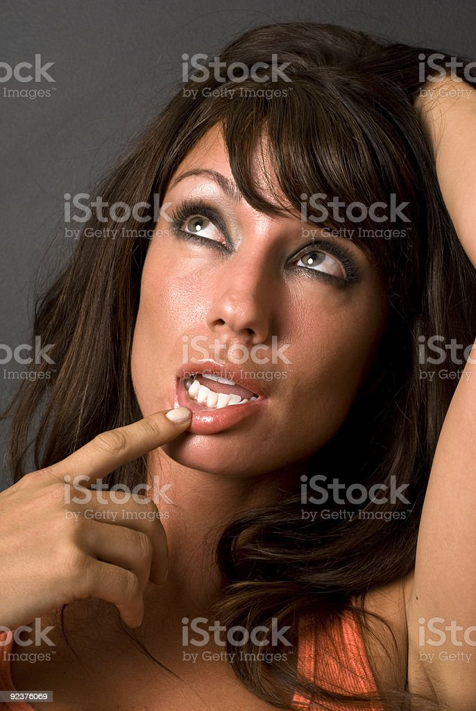 Beautifl Woman Confused & Dumbfounded royalty-free stock photo