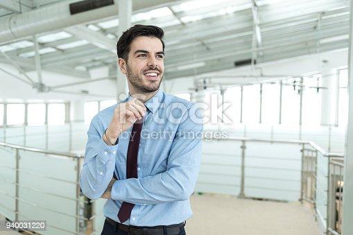 istock Beautifu businessman in modern workplace 940031220