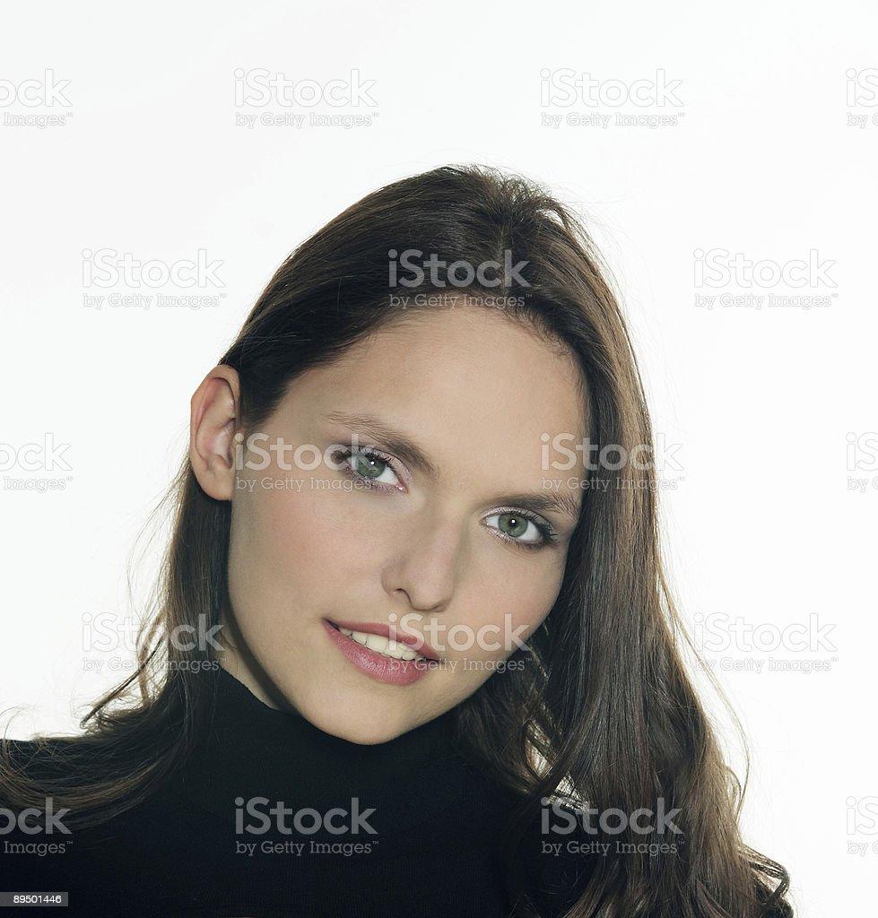 beautiful 25 years old smiling woman royaltyfri bildbanksbilder