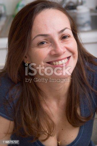 825083304 istock photo Beautiful 40s woman close-up 116575707