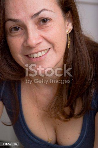 825083304 istock photo Beautiful 40s woman close-up 116576161