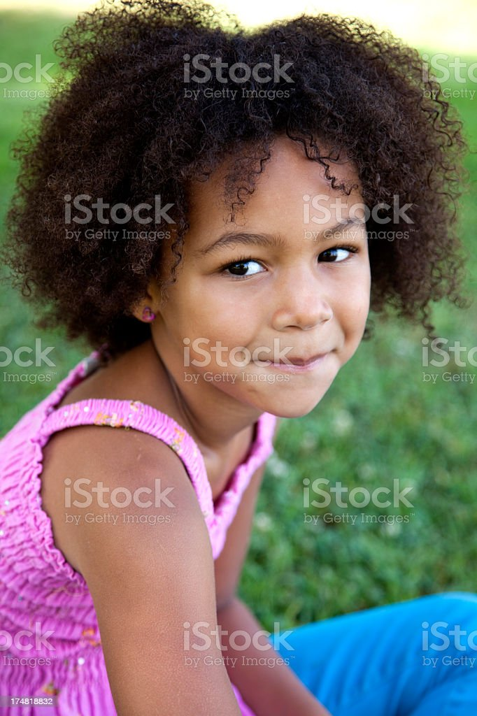 Beautiful 5 year old African American Girl royalty-free stock photo