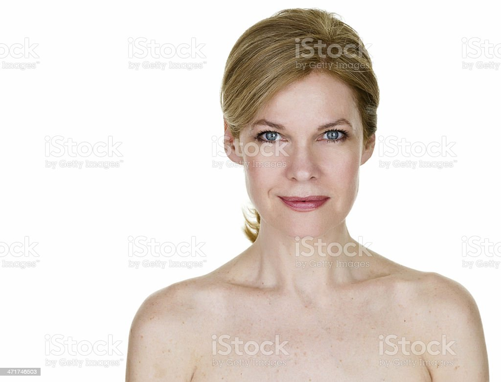 Beautiful 50 something year old woman stock photo