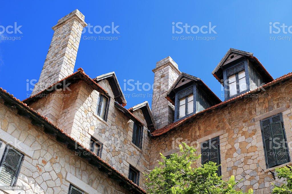 Beautiful abandoned house royalty-free stock photo