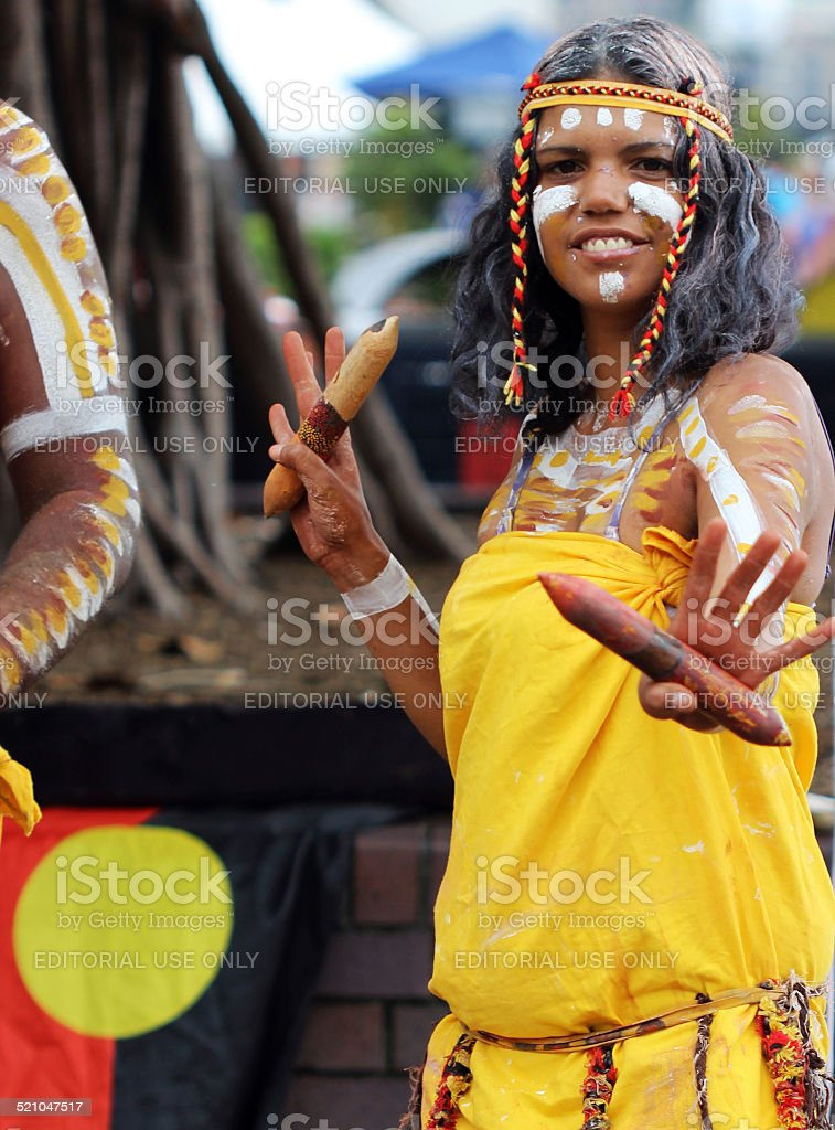Beautiful Aboriginal woman stock photo