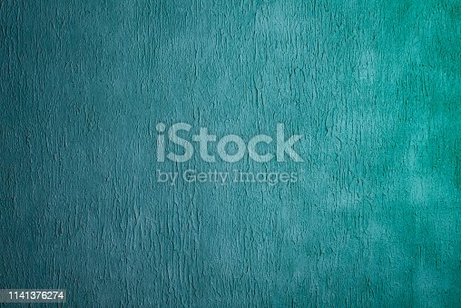 istock Beautiful Abstract Grunge Decorative Light Blue Cyan Painted Stucco Wall Texture. 1141376274