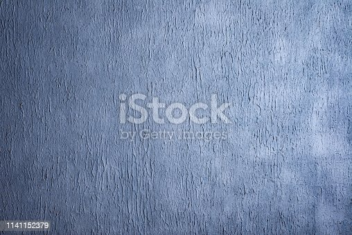 istock Beautiful Abstract Grunge Decorative Navy Blue Dark Stucco Wall Background. 1141152379