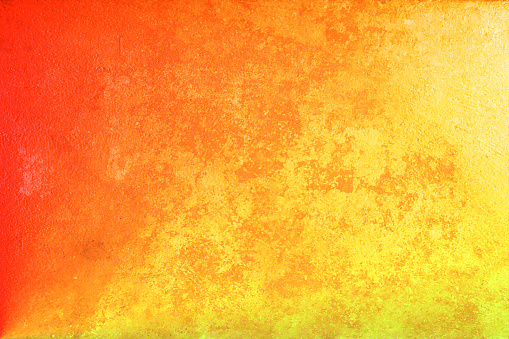 Beautiful Abstract Grunge Decorative Yellow Orange Dark Stucco Wall Background Stock Photo Download Image Now