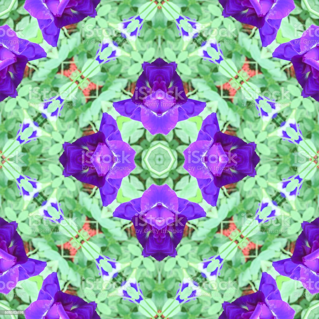 Beautiful abstract surreality pattern kaleidoscope stock photo