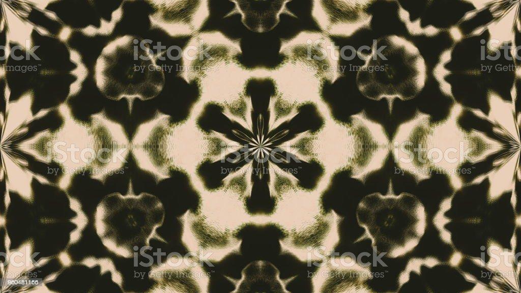 Beautiful abstract symmetry kaleidoscope, 3d rendering backdrop, computer generating stock photo