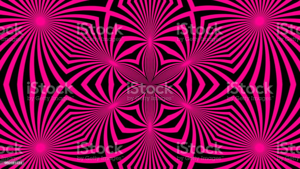 Beautiful abstract symmetry kaleidoscope with bright lines, 3d rendering backdrop, computer generating stock photo
