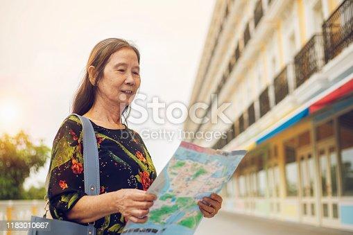 Asian, Europe, One Person, Senior Women