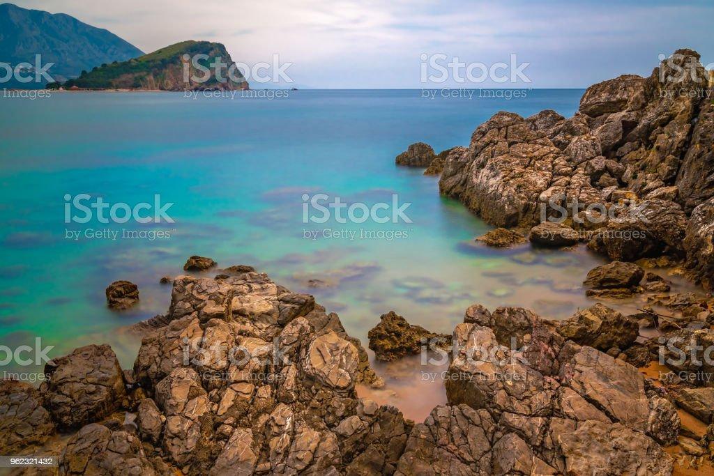 Beautiful Adriatic sea coast around Budva stock photo