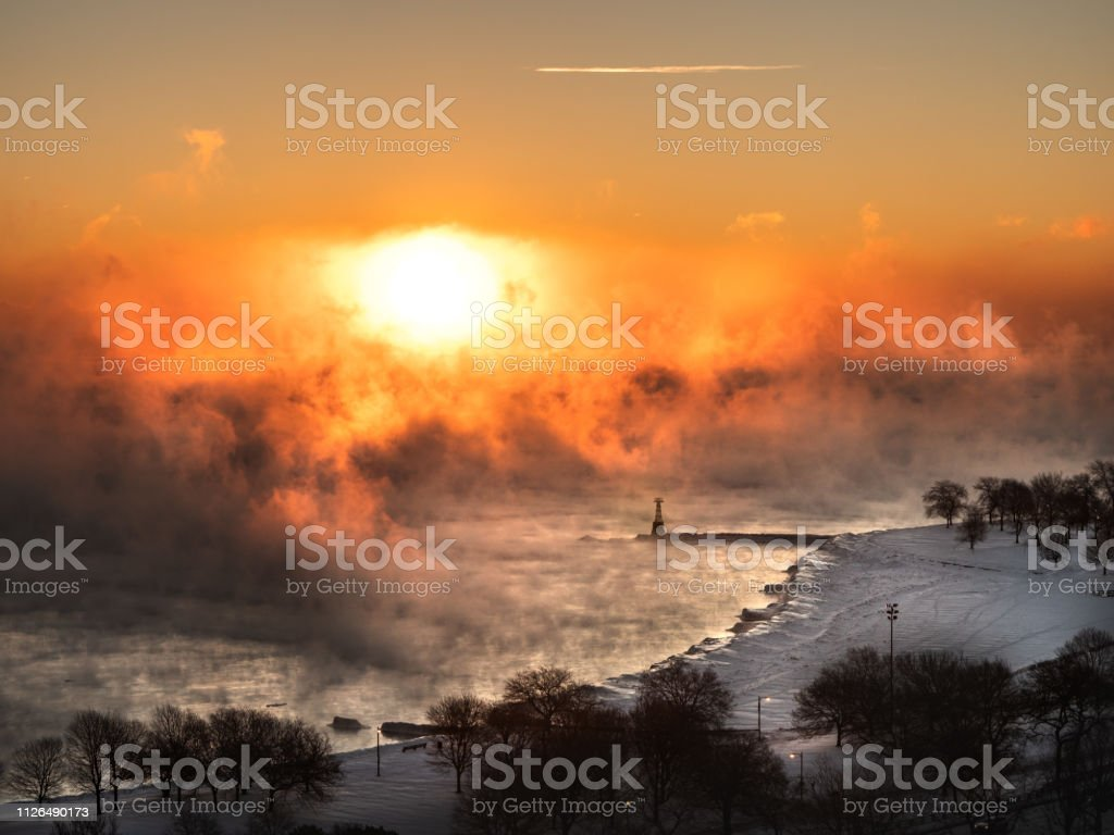 A Beautiful Aerial Photograph Of A Sunrise Over The Steam