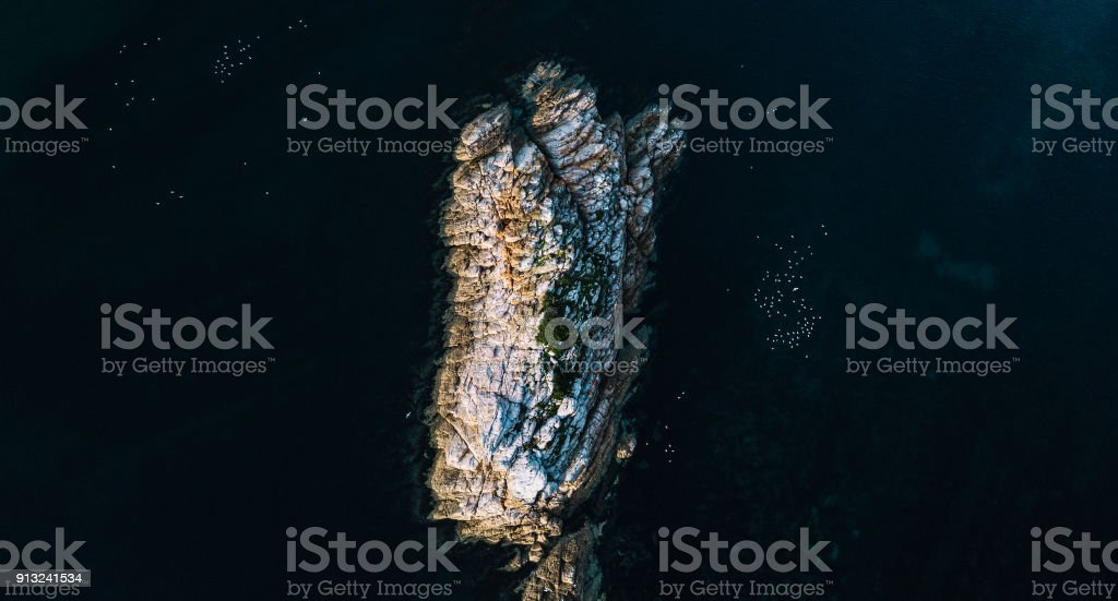 Beautiful aerial view of Rocky Cape, Tasmania stock photo