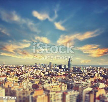 istock Beautiful Aerial view of the center of Barcelona 532115182