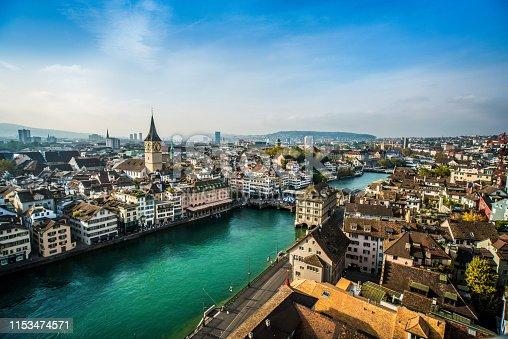 Beautiful Aerial View Of Zurich, Switzerland