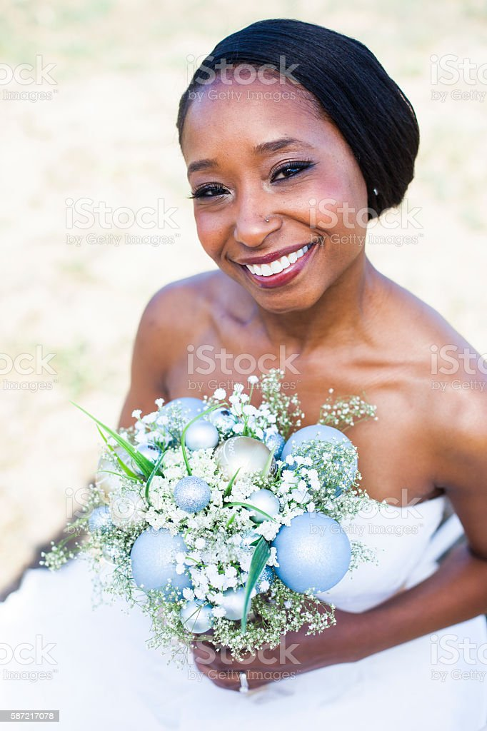 Beautiful African American Bride stock photo