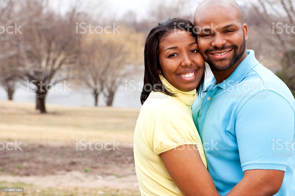 Beautiful African American Couple royalty-free stock photo