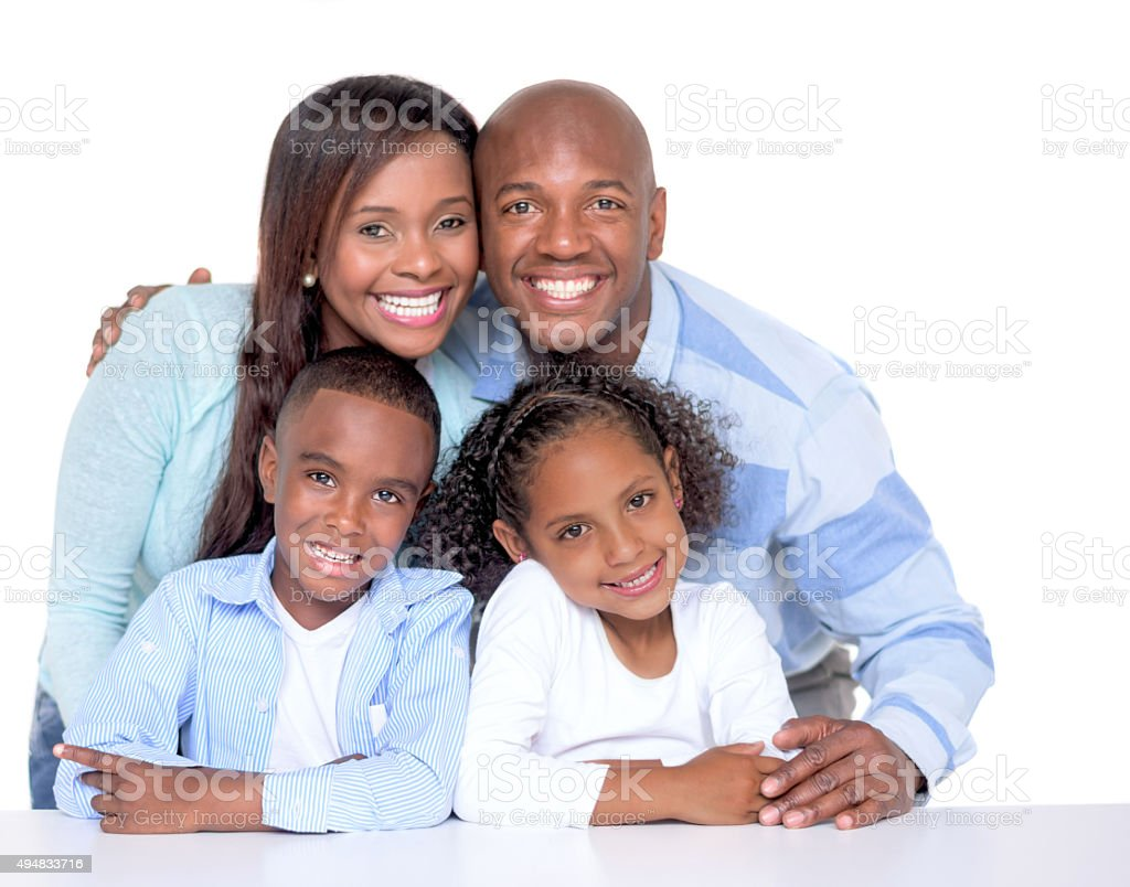 Beautiful African American family stock photo