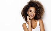 istock Beautiful african american female model 910858998