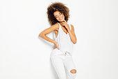 istock Beautiful african american female model 910862698