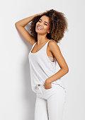 istock Beautiful african american female model 910863224