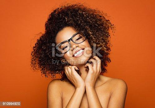 istock Beautiful african american female model 910994920