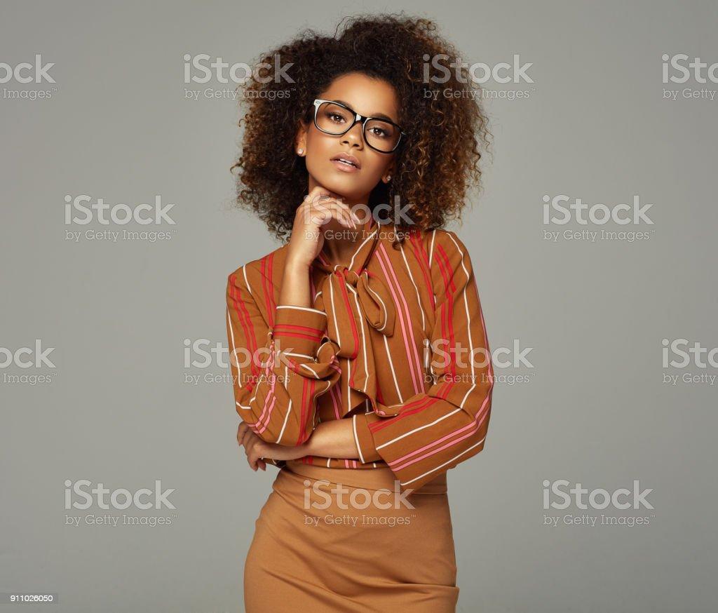 Portrait of beautiful african american female model
