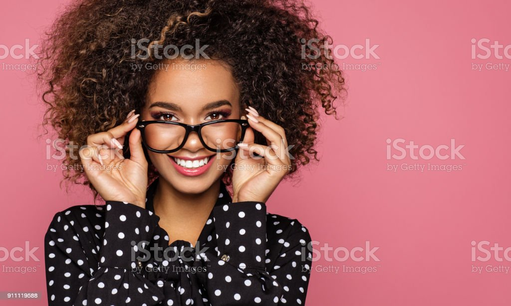 Beautiful african american model stock photo