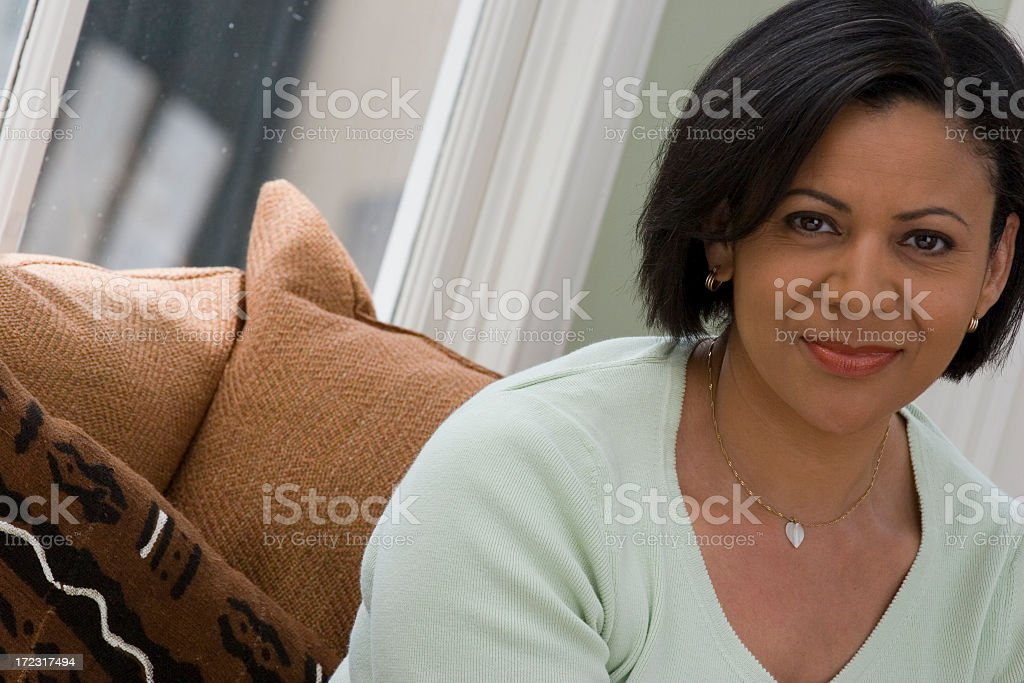 Beautiful African American woman royalty-free stock photo
