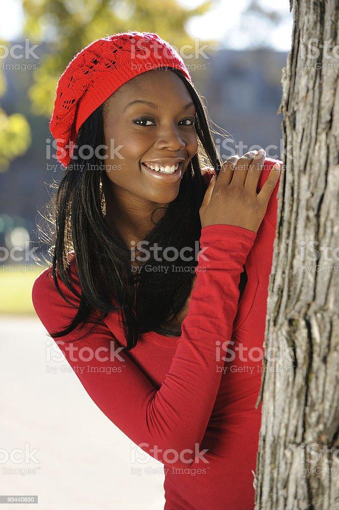 Schöne afroamerikanische Frau Lizenzfreies stock-foto