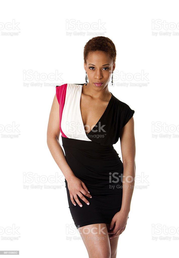 Beautiful African fashion business woman royalty-free stock photo