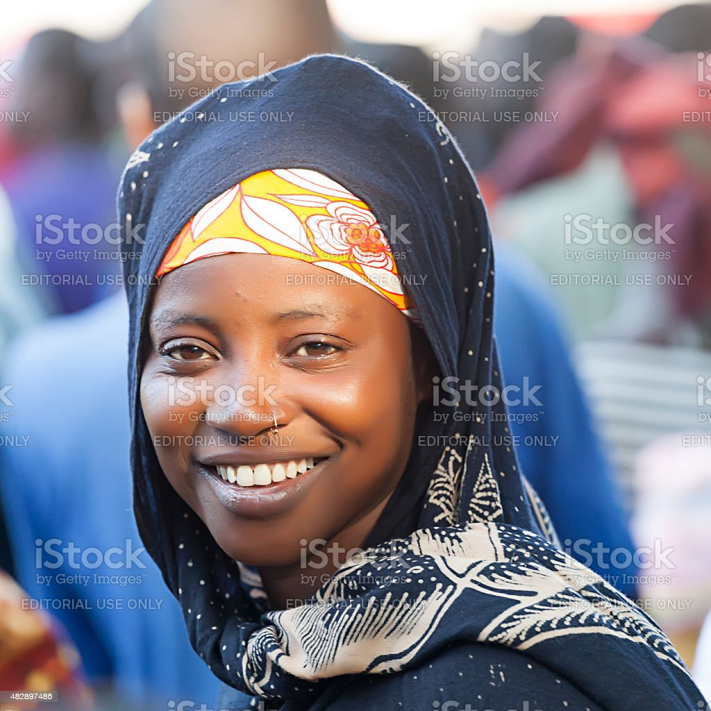 Beautiful african girl from Mozambique stock photo