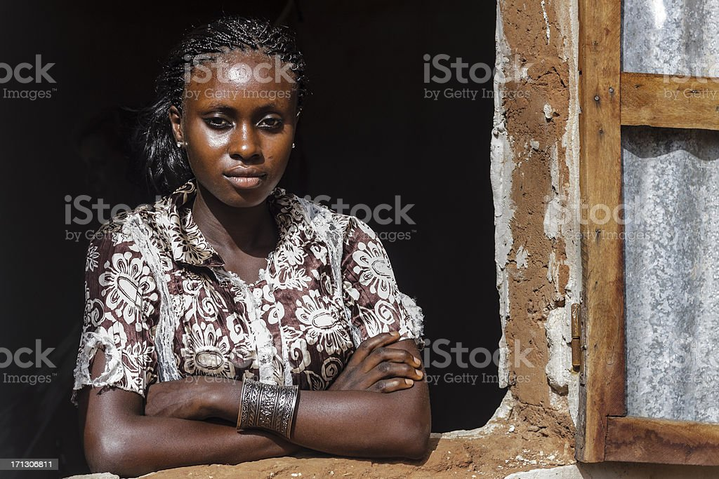 Beautiful African woman royalty-free stock photo