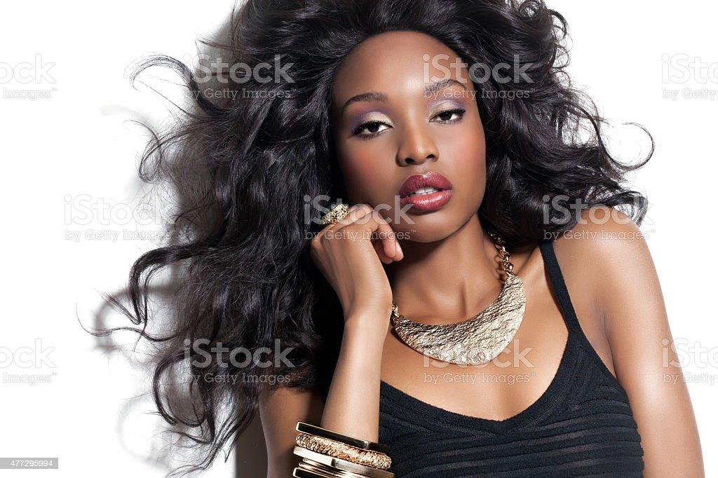 Beautiful African Woman stock photo